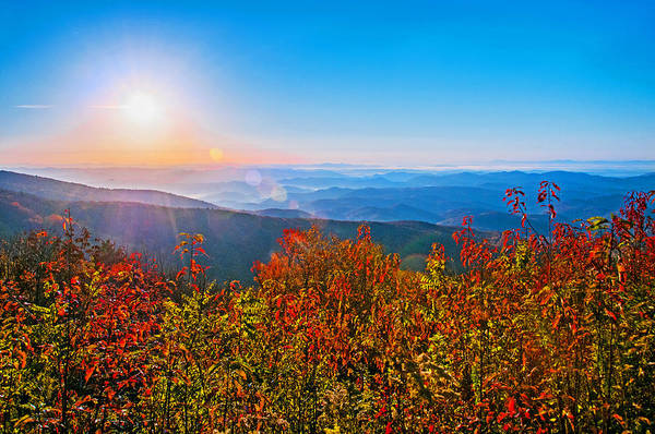 Photograph - Heavenly Sunrise On The Blue Ridge by Lynn Bauer