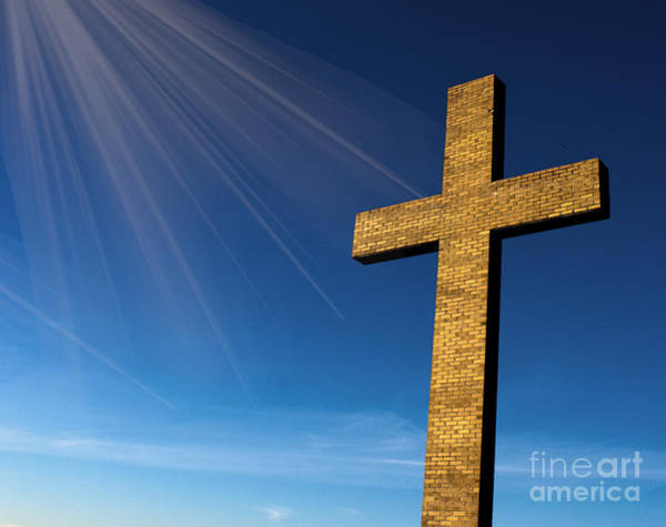 Heaven's Cross Art Print