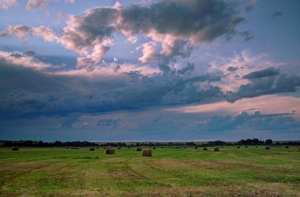Photograph - Heavens Over The Hay Field  by HW Kateley