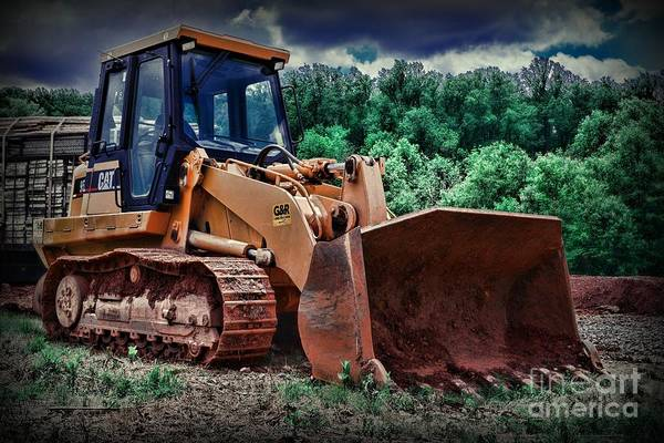 Excavator Photograph - Heavy Construction Equipment - Bulldozer by Paul Ward