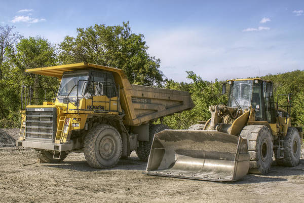 Heavy Equipment - Komatsu - Cat Art Print