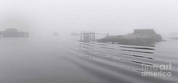 Photograph - Heavy Fog And Gentle Ripples by Marty Saccone
