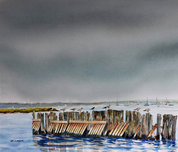Painting - Heavy Sky In Keyport by Phyllis London