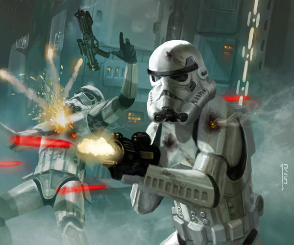 Star Wall Art - Digital Art - Heavy Storm Trooper - Star Wars The Card Game by Ryan Barger