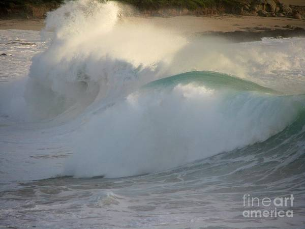 Photograph - Heavy Surf At Carmel River Beach by James B Toy