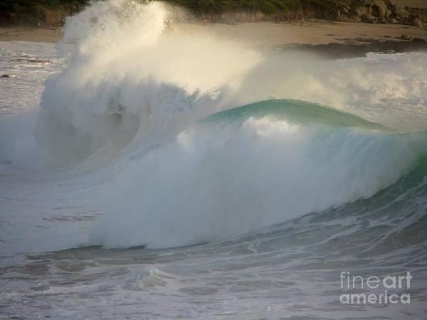 Heavy Surf At Carmel River Beach Art Print