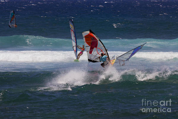 Windsurfing Photograph - Heavy Traffic by Mike  Dawson