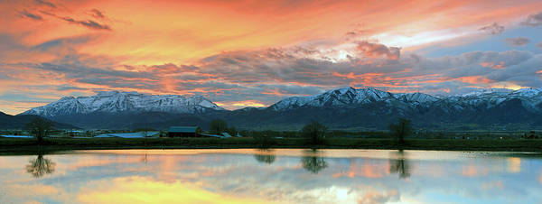 Heber Valley Sunset Art Print