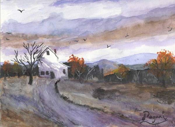 Painting - Hebo Farmhouse by Chriss Pagani