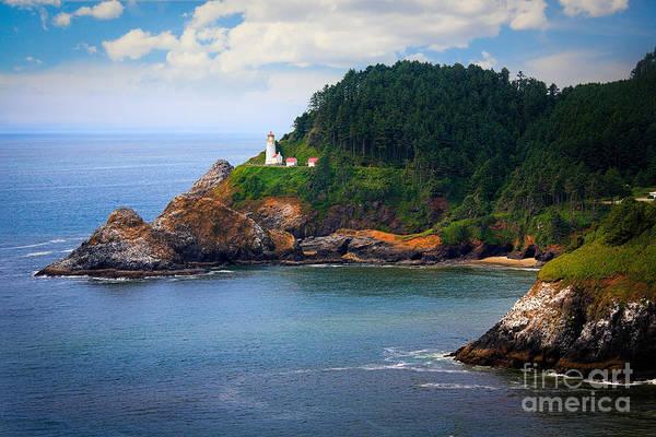 Heceta Head Lighthouse Photograph - Heceta Head by Inge Johnsson