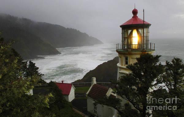 Heceta Head Lighthouse Photograph - Heceta Head Lighthouse 1 by Bob Christopher