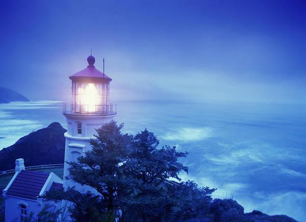 Heceta Head Lighthouse Photograph - Heceta Head Lighthouse, Devil's Elbow by Stuart Westmorland