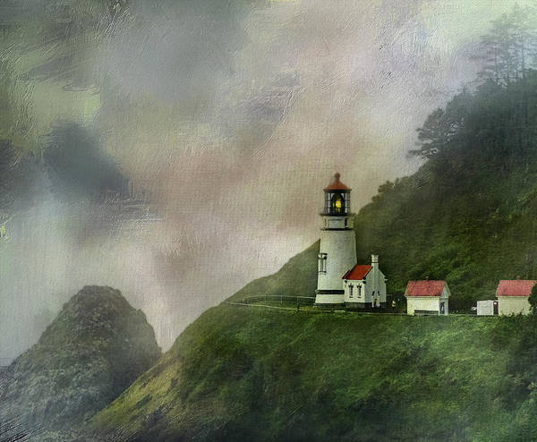 Queen Anne Style Photograph - Heceta Head Lighthouse Florence Oregon by Diane Schuster