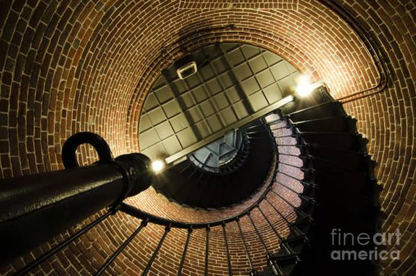 Heceta Head Lighthouse Photograph - Heceta Head Lighthouse Interior 4 by Bob Christopher