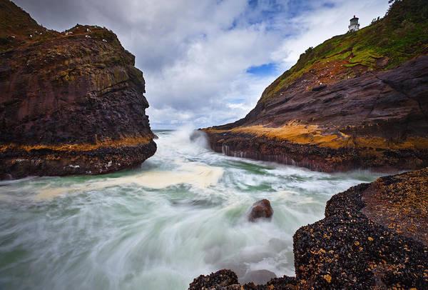 Heceta Head Lighthouse Photograph - Heceta Inlet by Darren  White