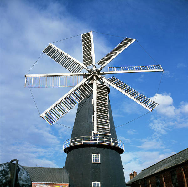 Wind Mill Photograph - Heckington Windmill by Robert Brook/science Photo Library