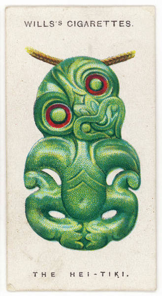 Paranormal Drawing - Hei-tiki Talisman Jade Charm Worn by Mary Evans Picture Library