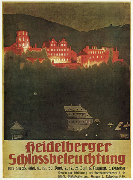 Wall Art - Painting - Heidelberg Castle, 1912 by Granger