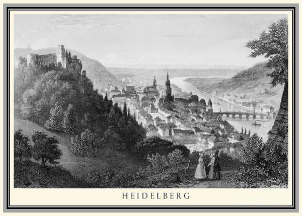 Wall Art - Photograph - Heidelberg Etching by Rudi Prott