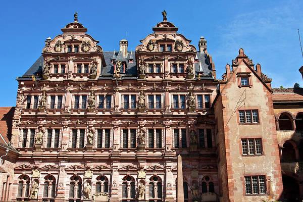 Fortification Photograph - Heidelberg, Germany, Heidelberg Castle by Miva Stock