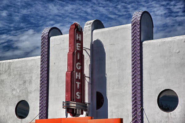 Photograph - Heights Theater by James Woody
