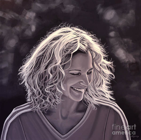Smiling Painting - Heike Henkel by Paul Meijering