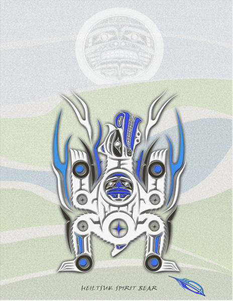 Tribal Land Digital Art - Heiltsuk Spirit Bear Awaken The Spirit by Fred Anderson jr