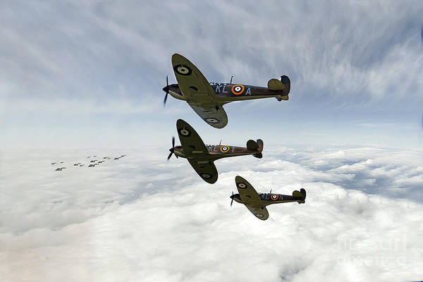 Blitz Digital Art - Heinkel Hunting  by J Biggadike