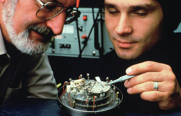 Shares Photograph - Heinrich Rohrer And Gerd Binnig by Ibm Research