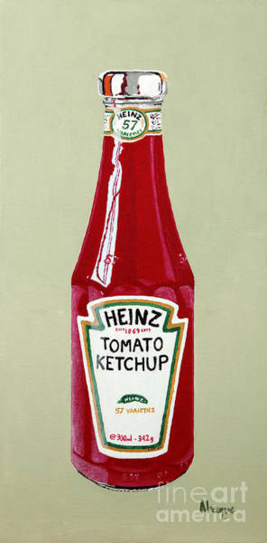 Diner Wall Art - Painting - Heinz Ketchup by Alacoque Doyle