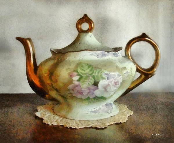 Painting - Heirloom Teapot by RC DeWinter
