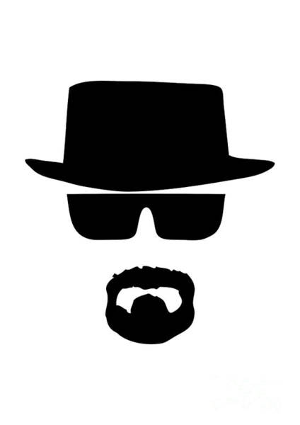 Tv Series Digital Art - Heisenberg Breaking Bad by Geek N Rock