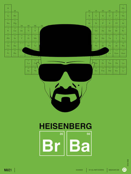 Amusing Wall Art - Digital Art - Heisenberg Poster 2 by Naxart Studio