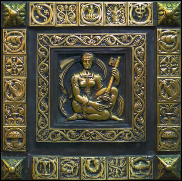 Digital Art - Hekate Bronze Plate by Chris Flees
