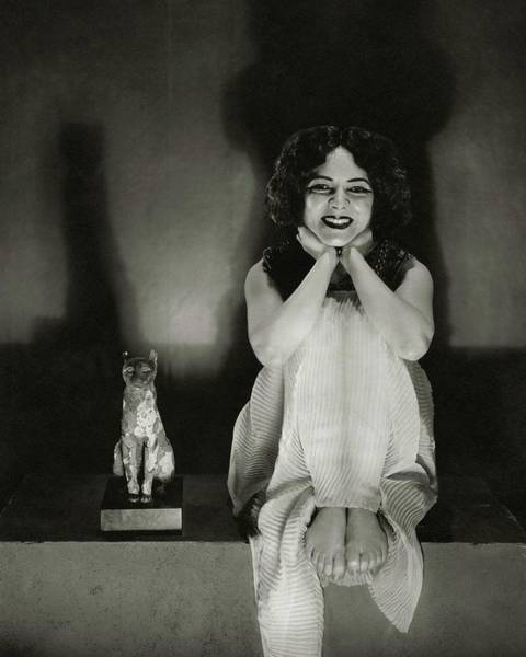 Cats Photograph - Helen Hayes As Cleopatra by Edward Steichen