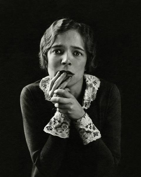Photograph - Helen Hayes Wearing Lace Cuffs by Edward Steichen