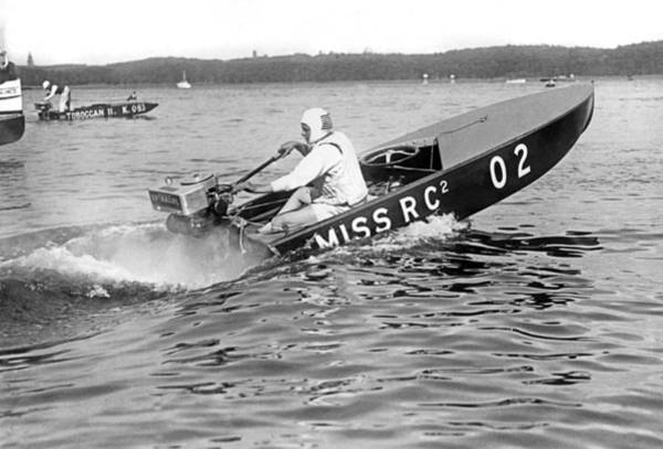 Outboard Photograph - Helen Hentshel Of New York Wins The Class B Outboard Races by Underwood Archives