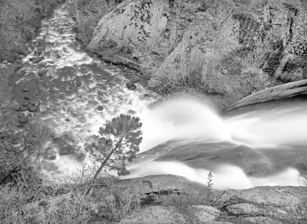 Helen Hunt Falls Photograph - Helen Hunt Falls Shot From Above H B And W by Bijan Pirnia