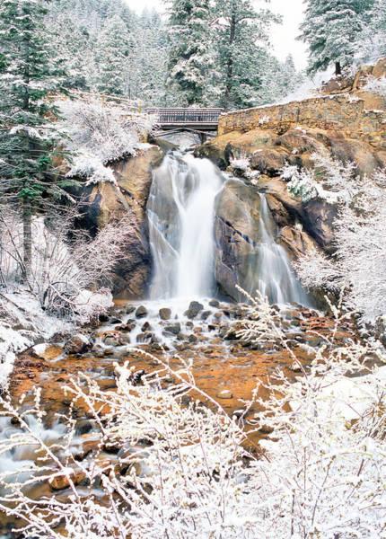 Helen Hunt Falls Photograph - Helen Hunt Falls V Spring Snow by Bijan Pirnia