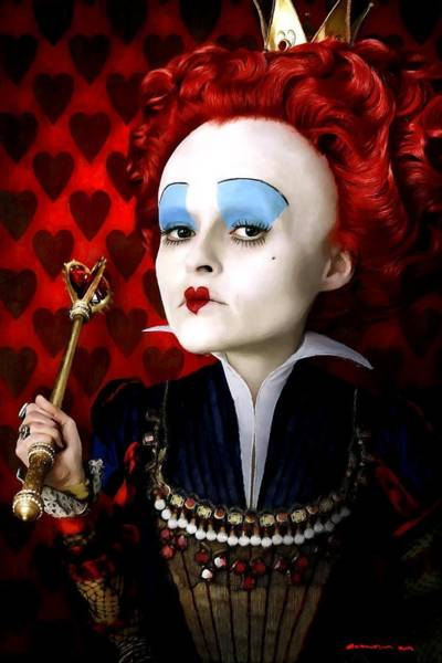 Digital Art - Helena Bonham Carter As The Red Queen In The Film Alice In Wonderland by Gabriel T Toro