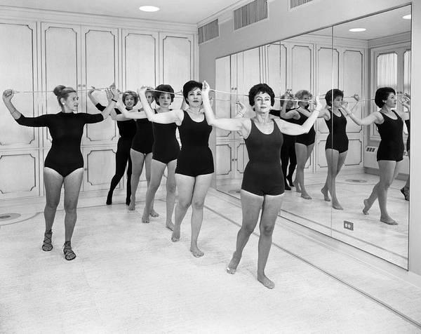 Workout Photograph - Helena Rubenstein Gym Class by Samuel Gottscho