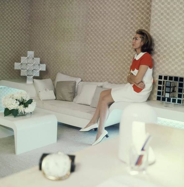 Office Furniture Photograph - Helene Rochas In Her Office by Horst P. Horst