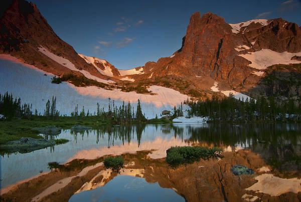 Alpenglow Photograph - Helene's Mirror by Mike Berenson
