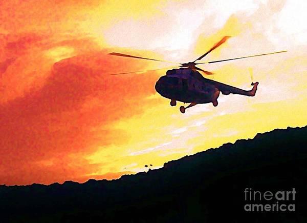 Halifax Nova Scotia Digital Art - Helicopter by John Malone