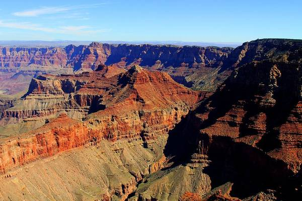 Photograph - Helicopter Over The Grand Canyon by Michael Hope