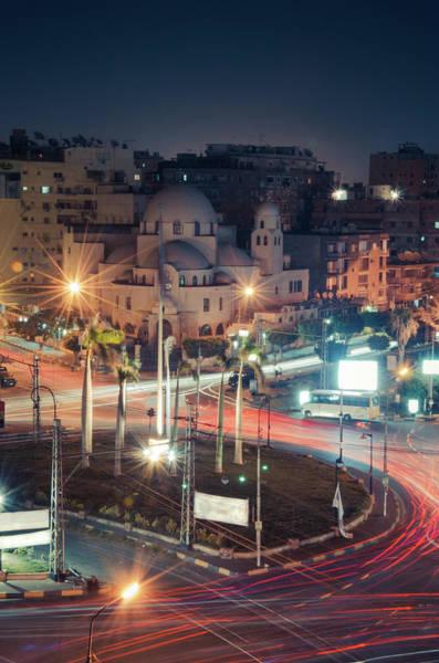 Rush Hour Photograph - Heliopolis Square, Cairo, Egypt by Sherif A. Wagih (s.wagih@hotmail.com)