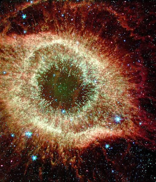 Wall Art - Photograph - Helix Nebula by Nasa/jpl-caltech/harvard-smithsonian Cfa/science Photo Library