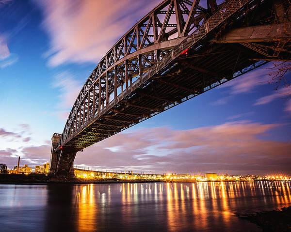 Astoria Bridge Photograph - Hell Gate Bridge From Astoria by Vicki Jauron