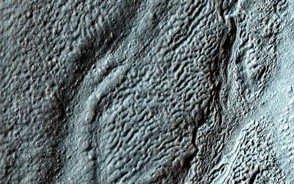 Deposits Wall Art - Photograph - Hellas Crater by Nasa/jpl-caltech/univ. Of Arizona