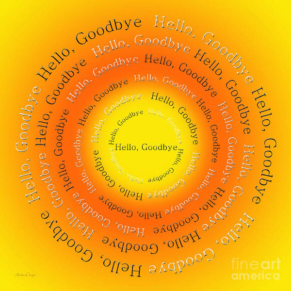 Digital Art - Hello Goodbye 4 by Andee Design